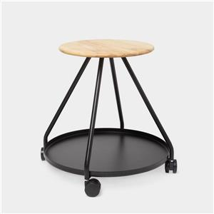Hover Storage Stool - Black/Natural