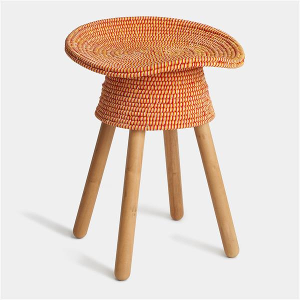 Umbra Red Coiled Stool