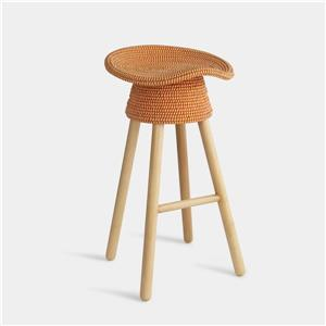 Umbra Red Coiled Counter Stool