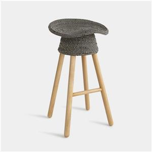 Umbra Grey Coiled Counter Stool