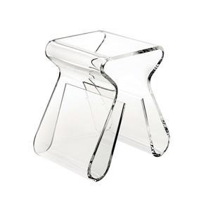 Tabouret Magino, transparent