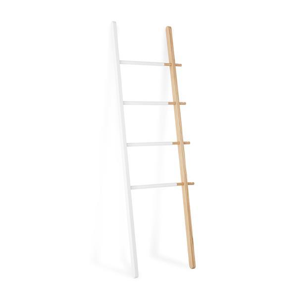 Umbra Matt Carr 60.00-In x 1.63-In White and Natural Hub Ladder