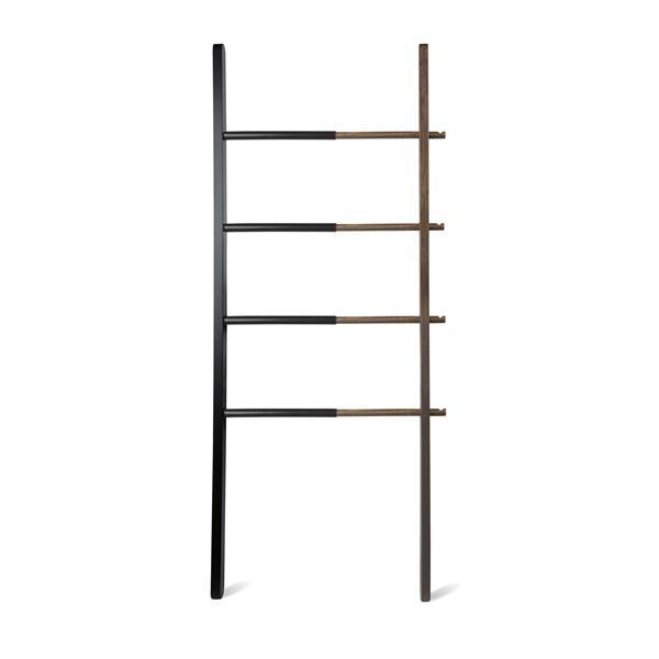 Umbra Matt Carr 60.00-In x 1.63-In Black And Walnut Hub Ladder