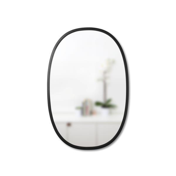Umbra Black Hub Oval Mirror