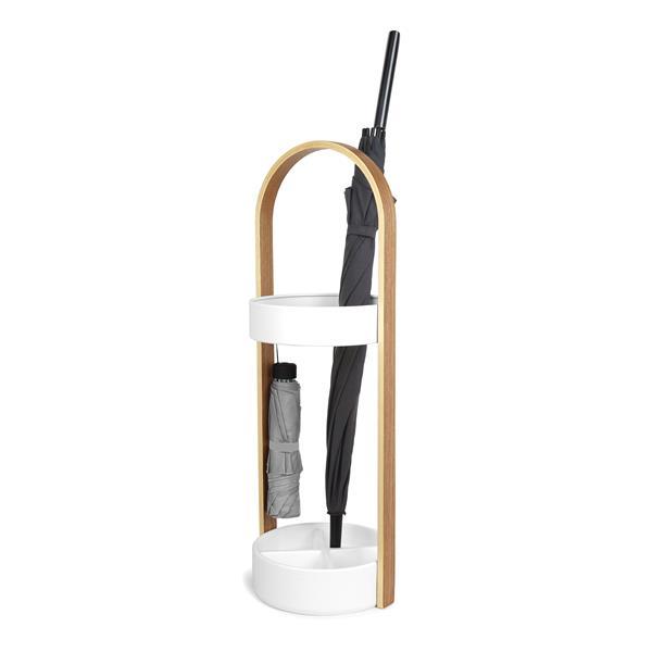 Umbra Hub Umbrella Stand - White/Natural