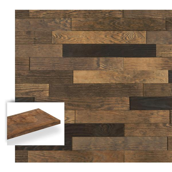 Timberwall 3/8-in x 3-1/4-in Landscape Black Rock Desert Appearance Board
