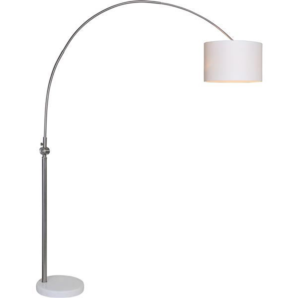 Notre Dame Design Cassell Floor Lamp - Brushed Nickel- 82.5-in