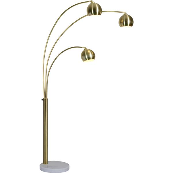 Notre Dame Design Dorset Floor Lamp - Satin Brass - 83-in
