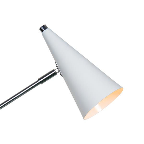 Notre Dame Design Malvern Floor Lamp - Satin Nickel - 60-in