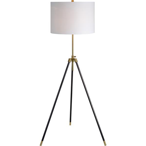 Notre Dame Design Mewitt Floor Lamp - Antique Brass - 64-in