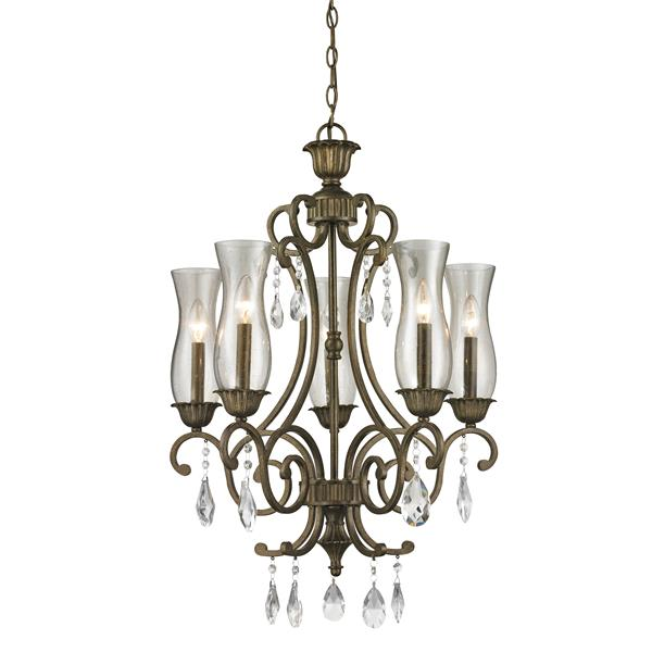 Z-Lite Melina 5-Light Golden Bronze Chandelier