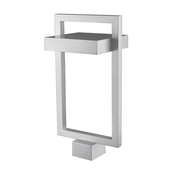 Z-Lite Luttrel Outdoor Post Mount Fixture - 1 Light - Silver