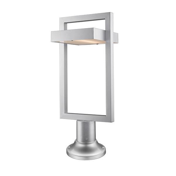 Luminaire extérieur sur socle Luttrel, 1 lumière, Argent
