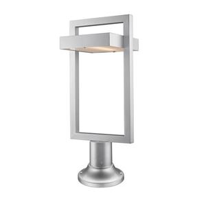Z-Lite Luttrel Outdoor Pier Mounted Fixture  - 1 Light - Silver