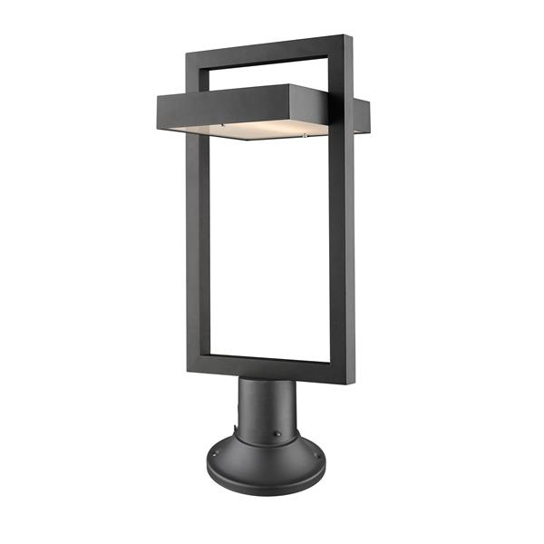 Z-Lite Luttrel Outdoor Pier Mounted Fixture - 1 Light - Black