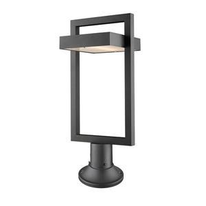 Luminaire extérieur sur socle Luttrel, 1 lumière, Noir