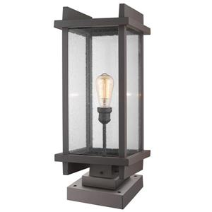 Z-Lite Fallow Outdoor Pier Mounted Fixture - 1 Light - Deep Bronze