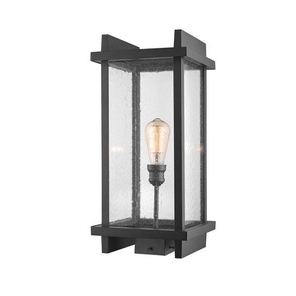 Z-Lite Fallow Outdoor Post Mount Fixture - 1 Light - Black