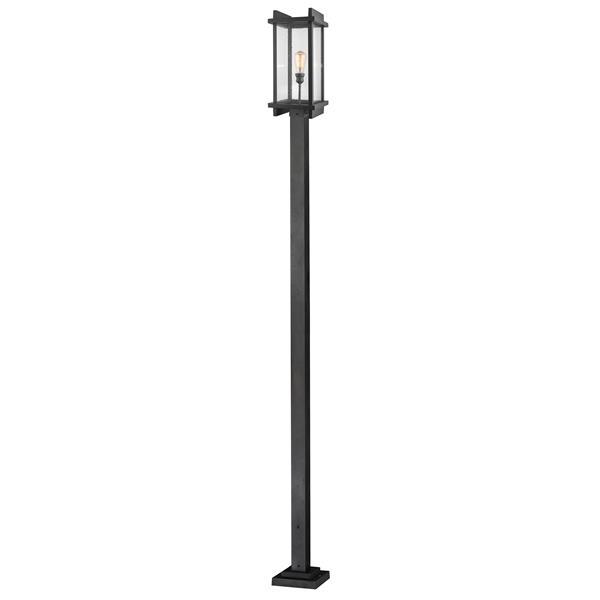Z-Lite Fallow Outdoor Post Mounted Fixture - 1 Light - Black