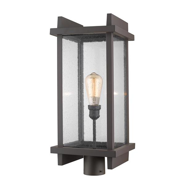 Lampadaire extérieur pour poteau Fallow, 1 lumière, Bronze