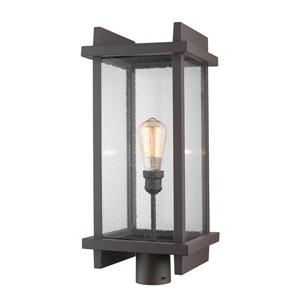 Z-Lite Fallow Outdoor Post Mount Fixture - 1 Light - Deep Bronze