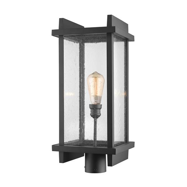 Z-Lite Fallow Outdoor Post Mount Fixture - 1 Light - Black