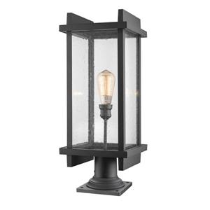 Z-Lite Fallow Outdoor Pier Mounted Fixture - 1 Light - Black