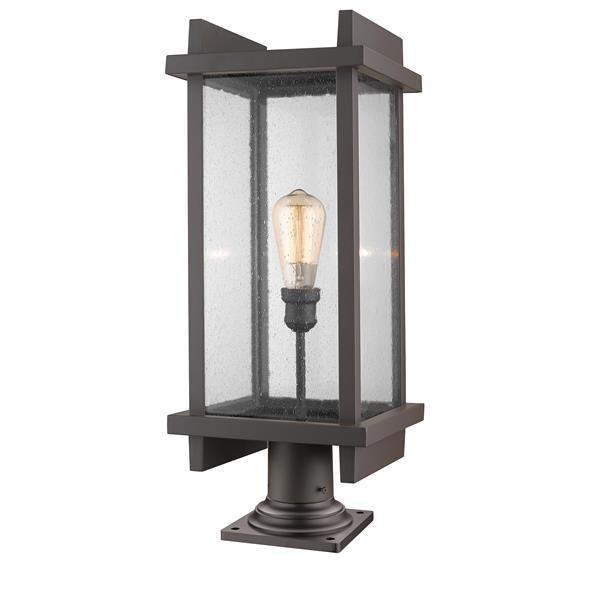 Luminaire extérieur sur socle Fallow, 1 lumière, Bronze