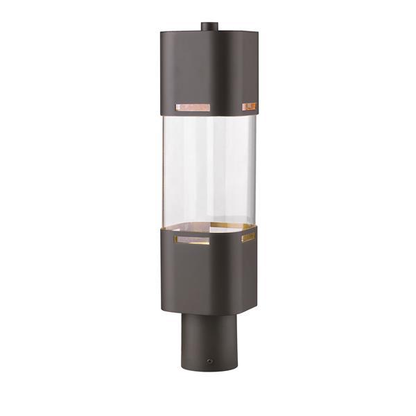 Z-Lite Lestat Outdoor Post Head in Deep - 1 Light - Bronze