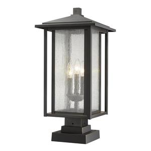 Z-Lite Aspen Outdoor Pier Mounted Fixture -  3 Light - Bronze