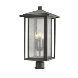 Z-Lite Aspen Outdoor Post Mount Fixture -  3 Light - Bronze