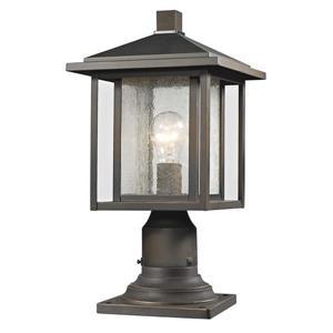 Luminaire extérieur sur socle Aspen, 1 lumière, Bronze huilé