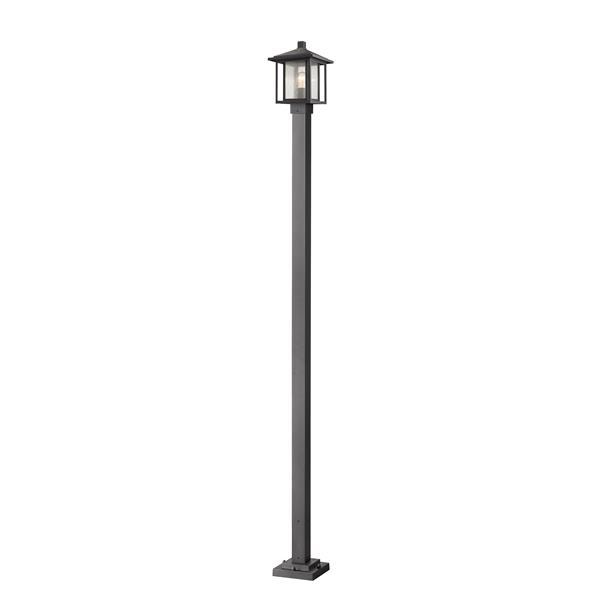 Z-Lite Aspen Outdoor Post Mounted Fixture - 1 Light - Black
