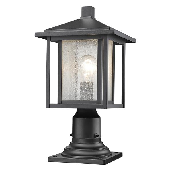 Z-Lite Aspen Outdoor Lantern - 1 Light -  Black