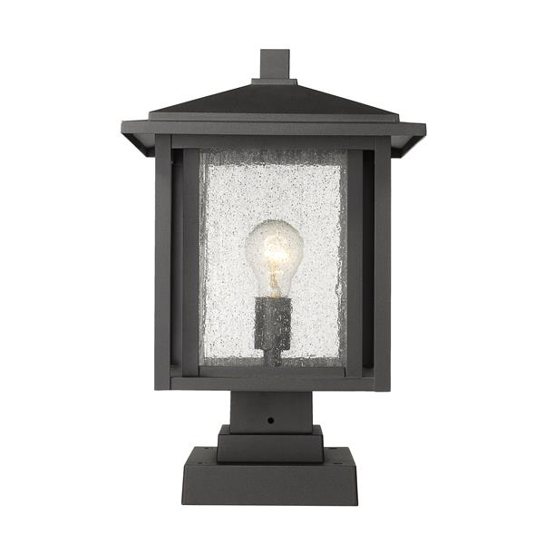 Z-Lite Aspen Outdoor Pier Mounted Fixture - 1 Light - Black