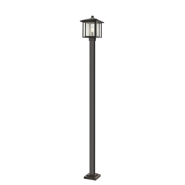 Z-Lite Aspen Outdoor Post Mounted Fixture - 1 Light - Bronze