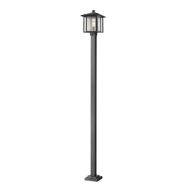 Z-Lite Aspen Outdoor Lamp Post  - 1 Light - Black