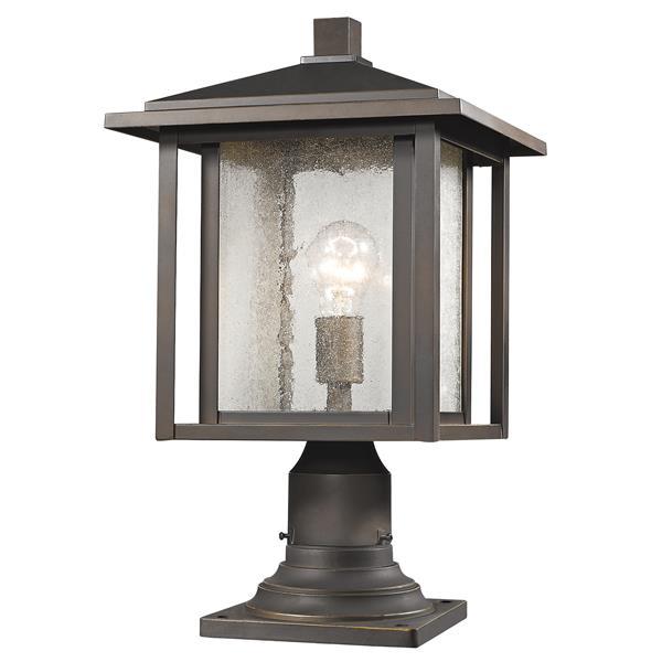 Z-Lite Aspen Outdoor Lantern - 1 Light - Oil Rubbed Bronze