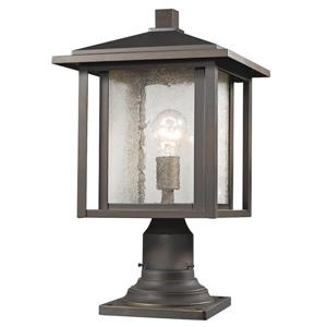 Z-Lite Aspen Outdoor Lantern - 1 Light - Oil Rubbed Bronze