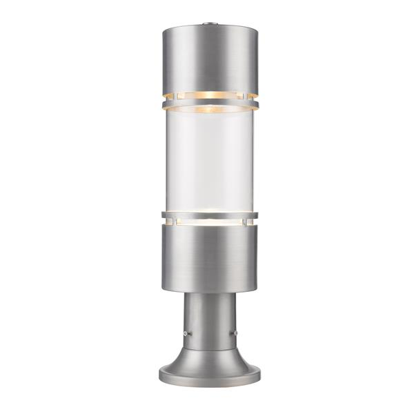 Z-Lite Luminata Outdoor LED Post Mount Light - Brushed Aluminum
