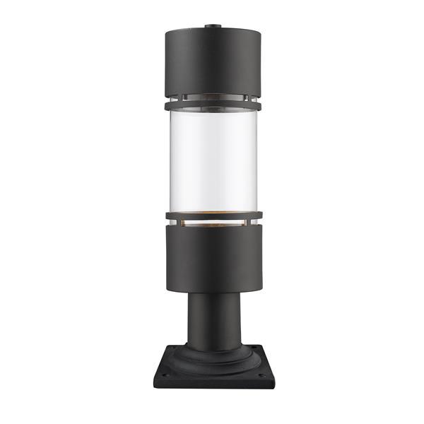 Z-Lite Luminata Outdoor LED Post Mount Light - Black