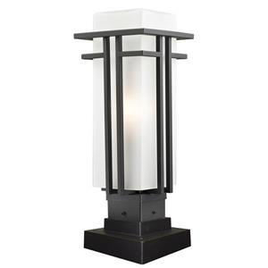 Z-Lite Abbey Outdoor Pier Mount Light in Outdoor - Rubbed Bronze