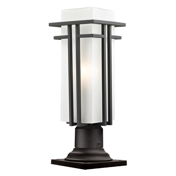 Z-Lite Abbey Outdoor Pier Mount Light - Rubbed Bronze