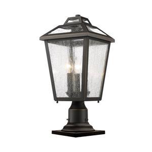 Luminaire extérieur sur socle Bayland, 3 lumières, Bronze