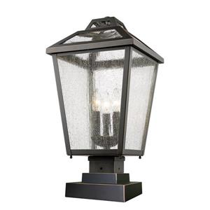 Z-Lite Bayland Outdoor Pier Mount Light - 3 Light - Bronze