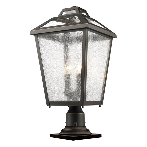 Z-Lite Bayland Outdoor Pier Mount Light -  3 Light - Bronze