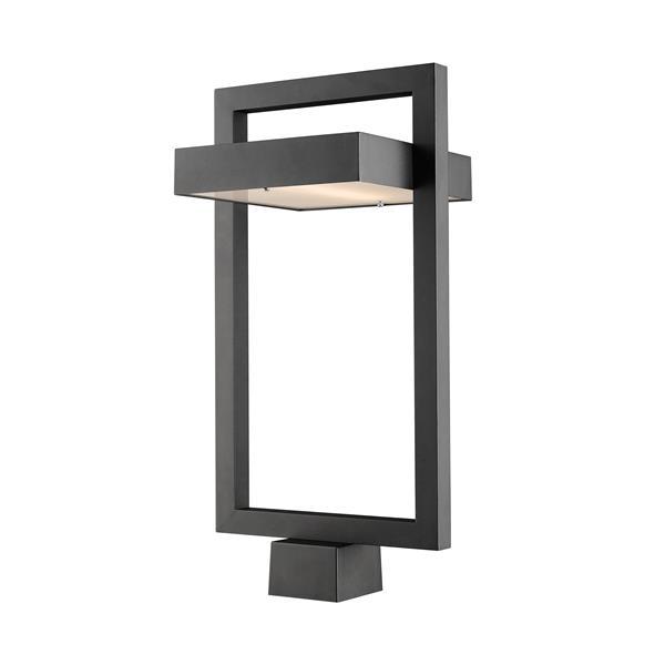 Luminaire extérieur pour poteau Luttrel, 1 lumière, Noir