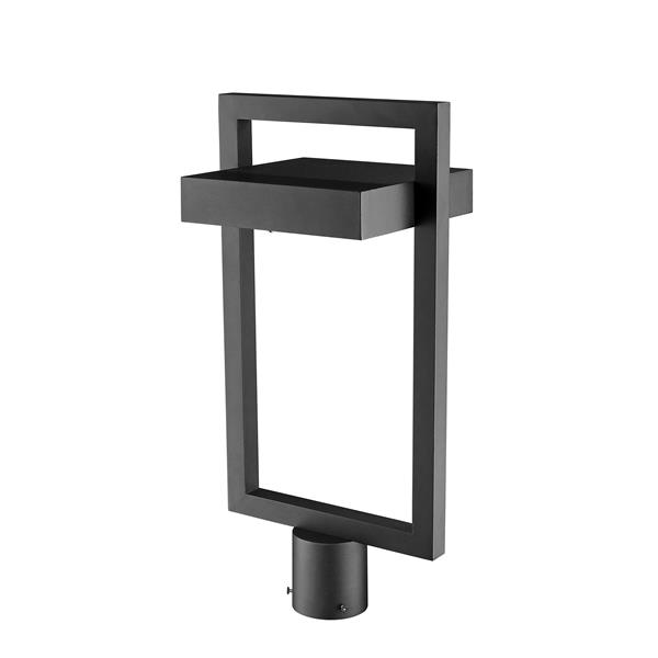 Z-Lite Luttrel Outdoor Post Mount Fixture - 1 Light - Black