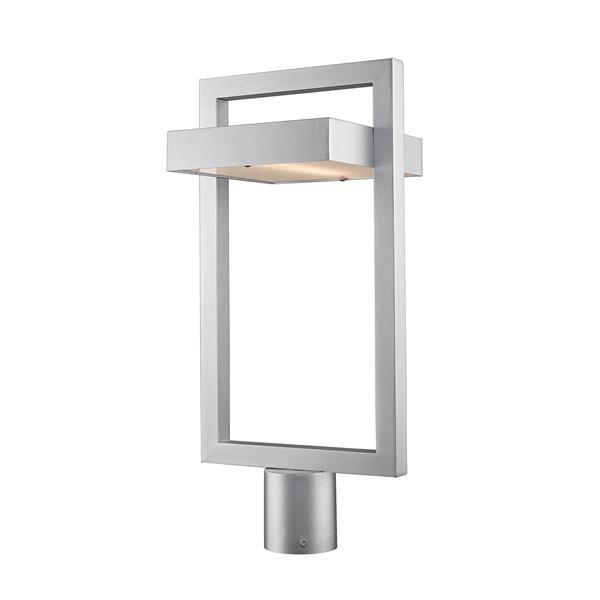 Z-Lite Luttrel Outdoor Post Mount Fixture  - 1 Light - Silver