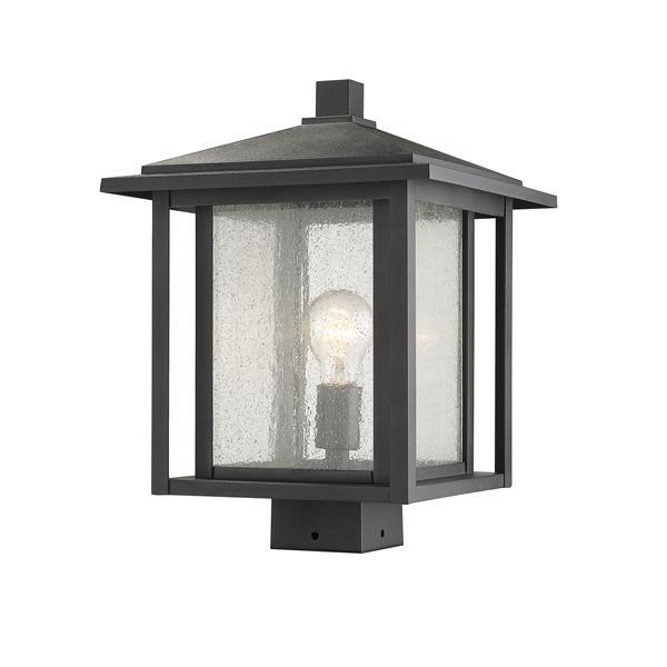 Z-Lite Aspen Outdoor Post Mount Fixture - 1 Light - Black